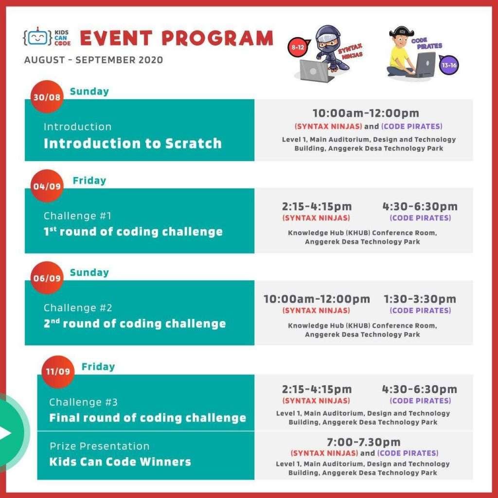 Brunei Kids Can Code Schedule