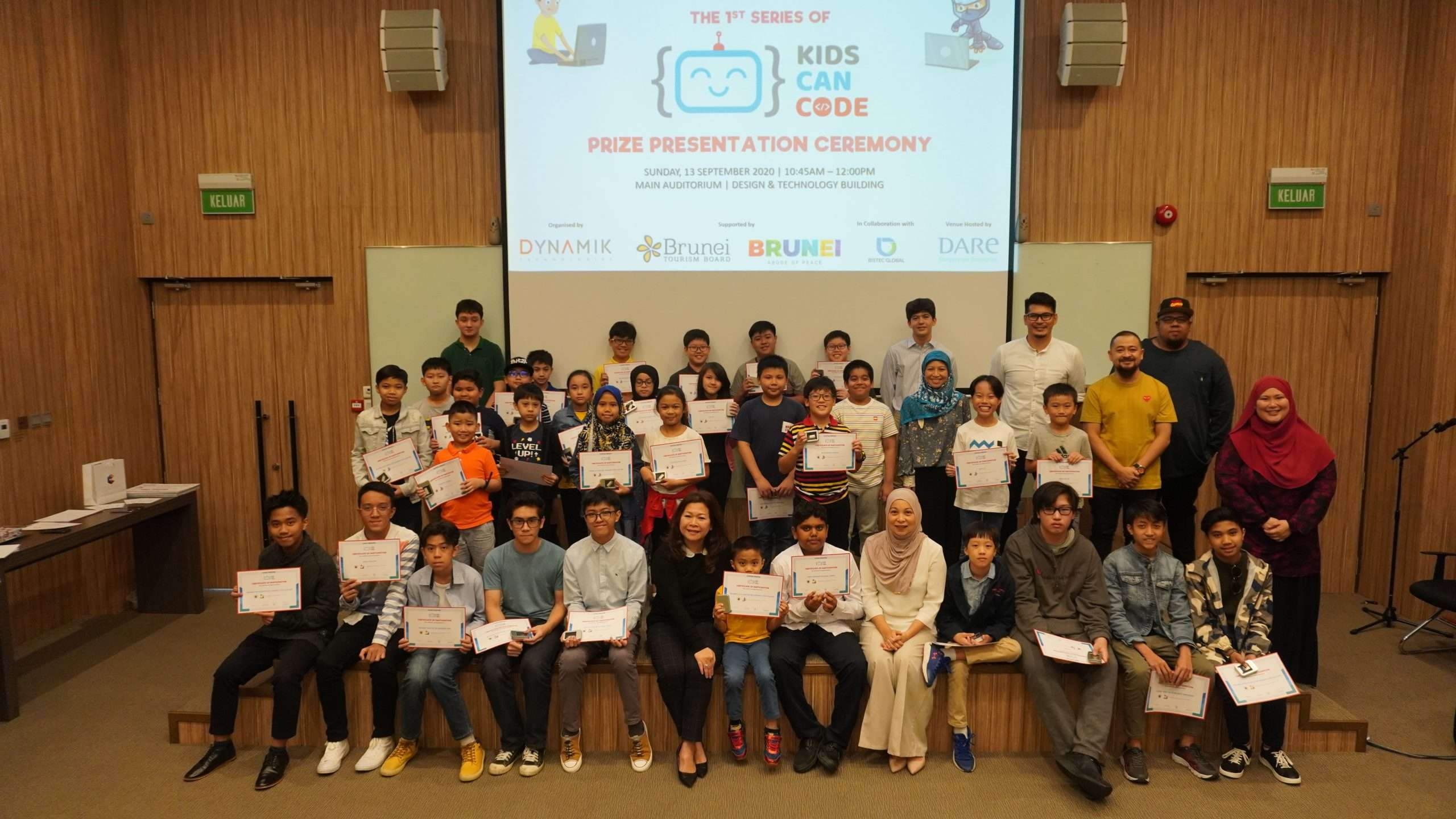 Results from the 1st Brunei Kids Can Code Competition