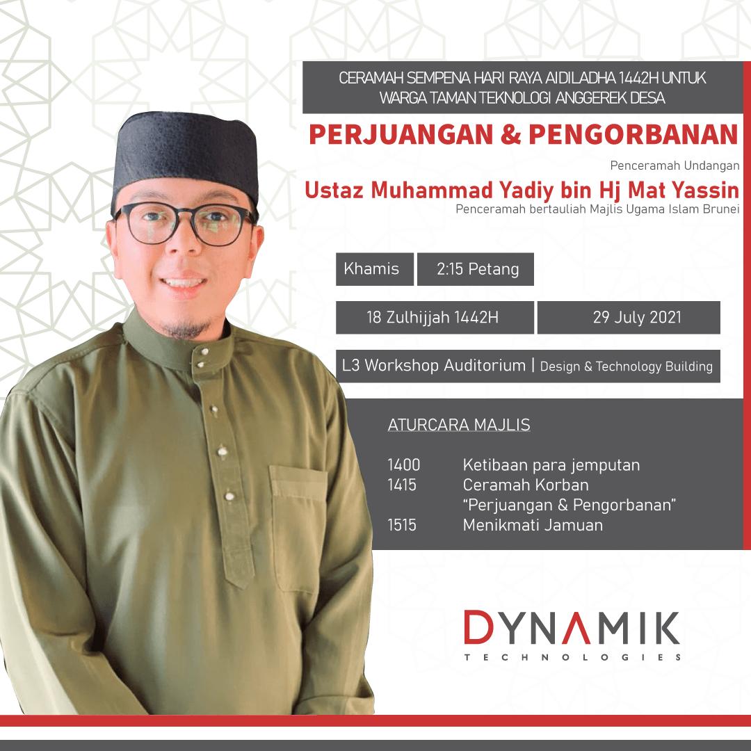 Event Registration – ADTP Ceramah Qurban 1442H