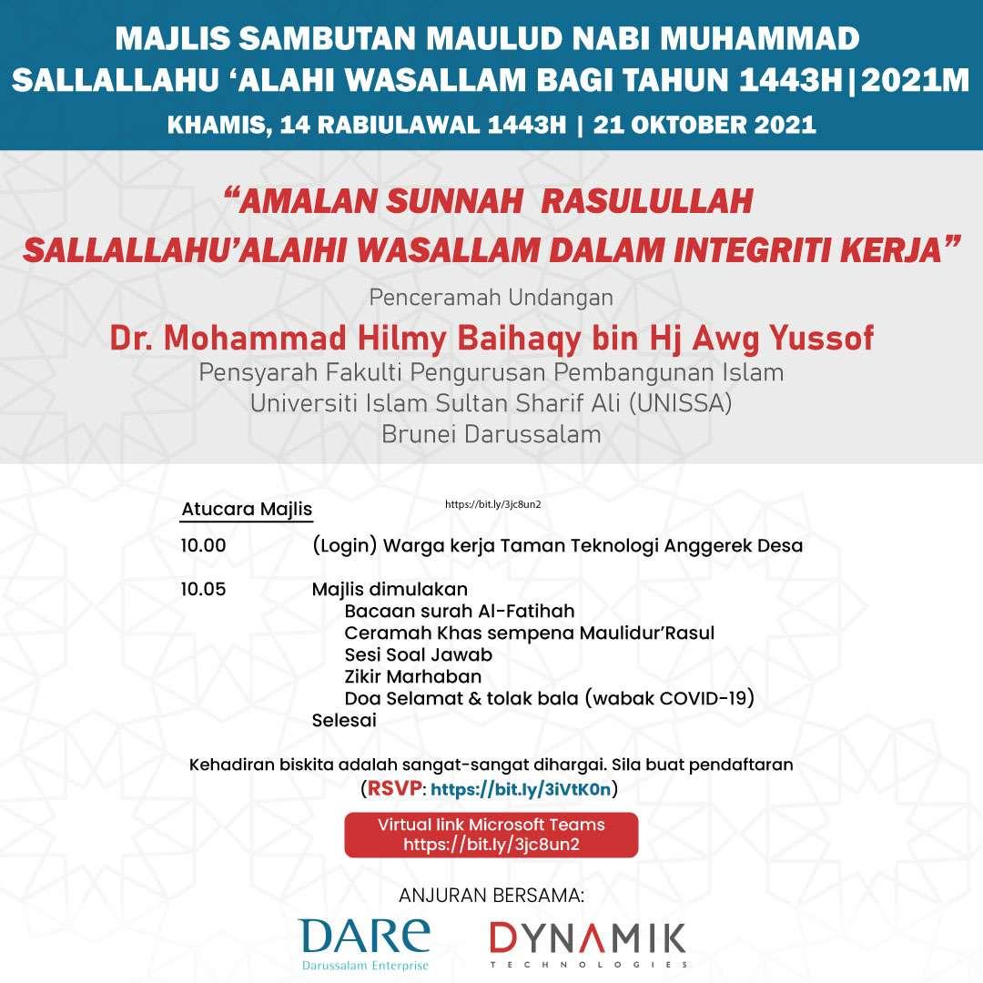 Event Registration – ADTP Ceramah & Dikir Maulud 1443H